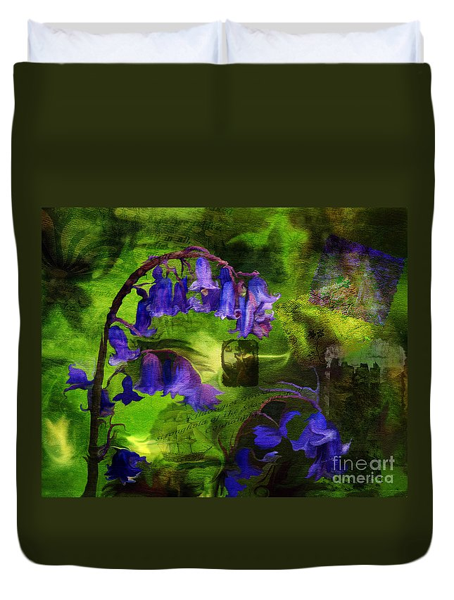 Fine Art Duvet Cover featuring the digital art Sea Queen of Connaught- mixed media photo composite- collage by Patricia Griffin Brett