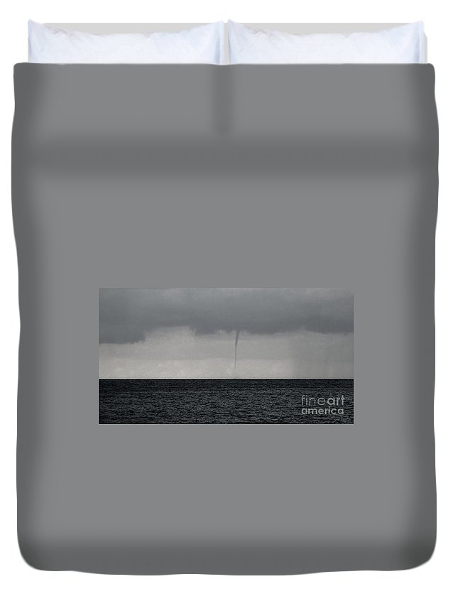 Cayman Islands Stock Photographs Duvet Cover featuring the photograph Tornado At Sea by Amar Sheow
