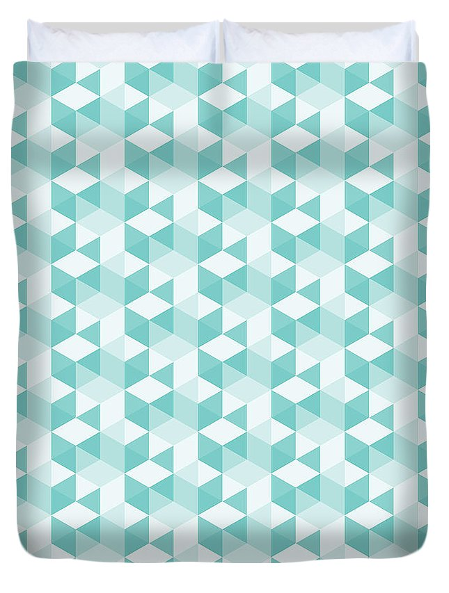 Abstract Duvet Cover featuring the digital art Seamless Pixel Pattern by Mike Taylor