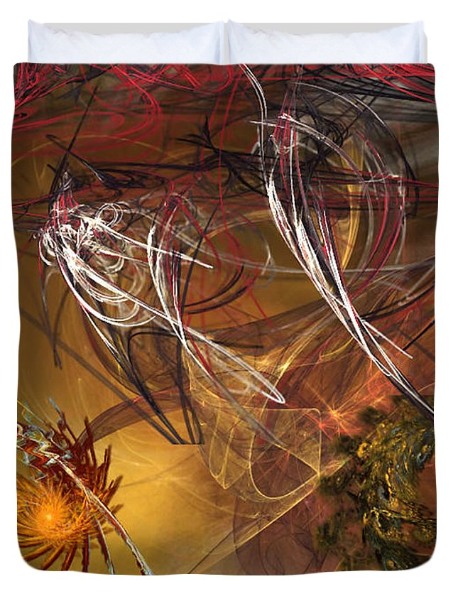 Fractal Duvet Cover featuring the digital art Searching by Donna Walsh