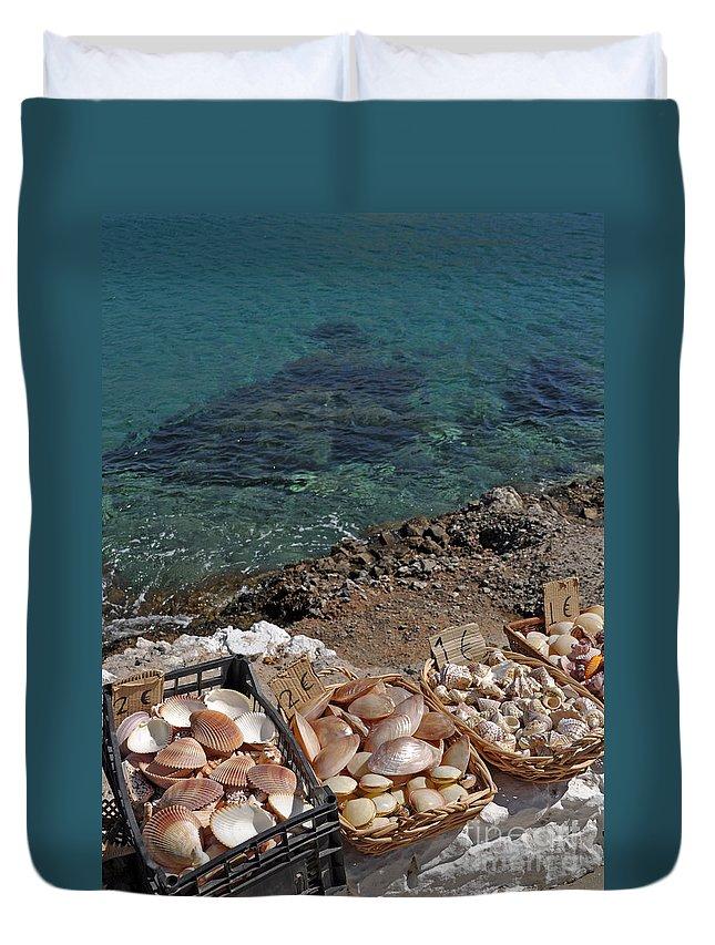 Seashell Duvet Cover featuring the photograph Seashells by Luis Alvarenga