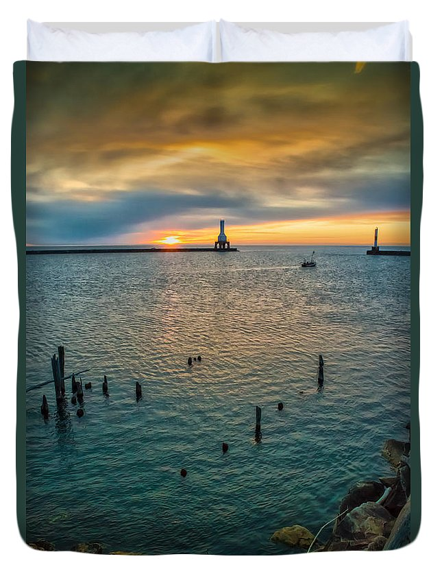 Sunrise Duvet Cover featuring the photograph Season Opener by James Meyer