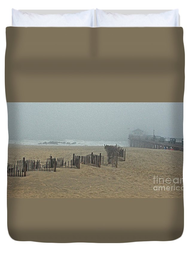Ocean Grove Duvet Cover featuring the photograph Seasons End by Marian DeSalvo-Rodgers