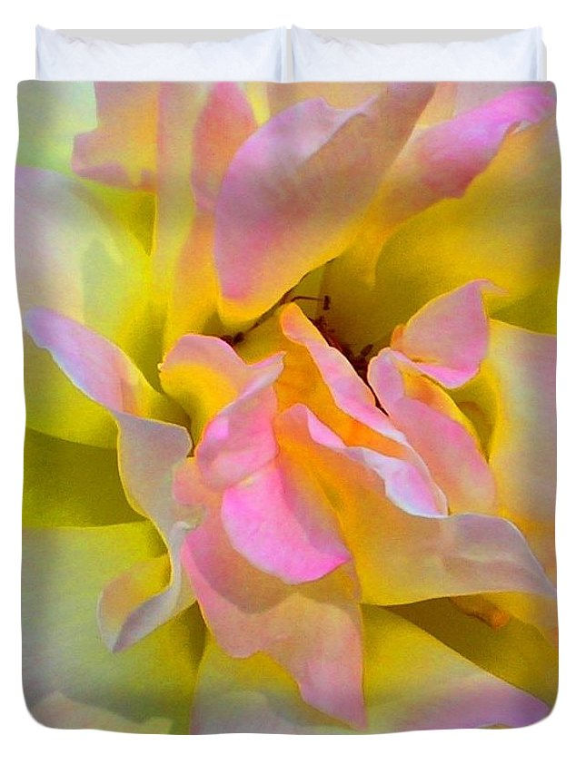 Rose Duvet Cover featuring the photograph Seattle's Rose by KCatia Creole Art