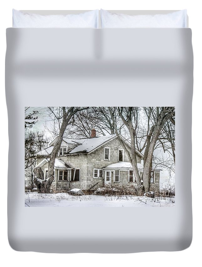 Old Duvet Cover featuring the photograph Secluded Old House by Nikki Vig