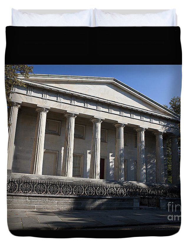 Second Bank Of The United States Duvet Cover featuring the photograph Second Bank Of The United States by Jason O Watson