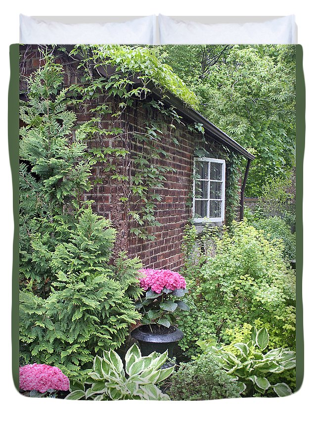 Garden Duvet Cover featuring the photograph Secret Place by Ben and Raisa Gertsberg