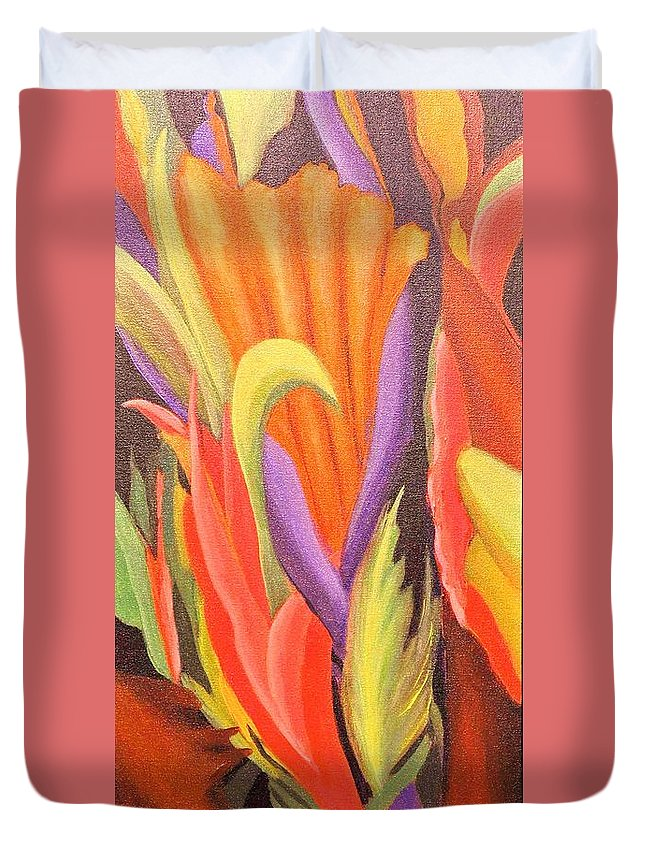 Abstract/impressionism/modern Duvet Cover featuring the painting Secret Place by Glory Wood
