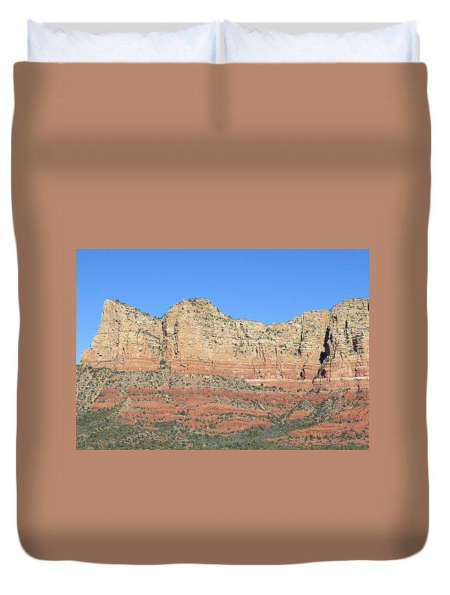 Sedona Duvet Cover featuring the photograph Sedona Arizona Mountain Four by Carl Deaville