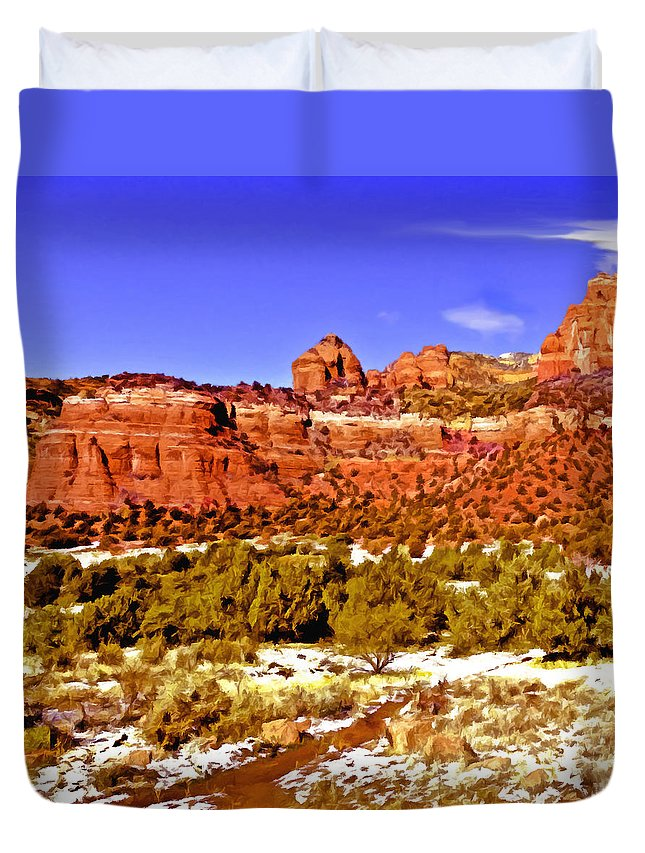 Sedona Duvet Cover featuring the photograph Sedona Arizona Secret Mountain Wilderness by Bob and Nadine Johnston