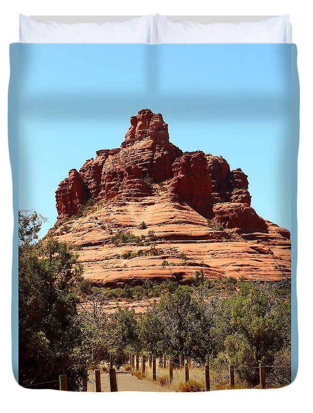 Sedona Duvet Cover featuring the photograph Sedona Bell Rock by Christiane Schulze Art And Photography