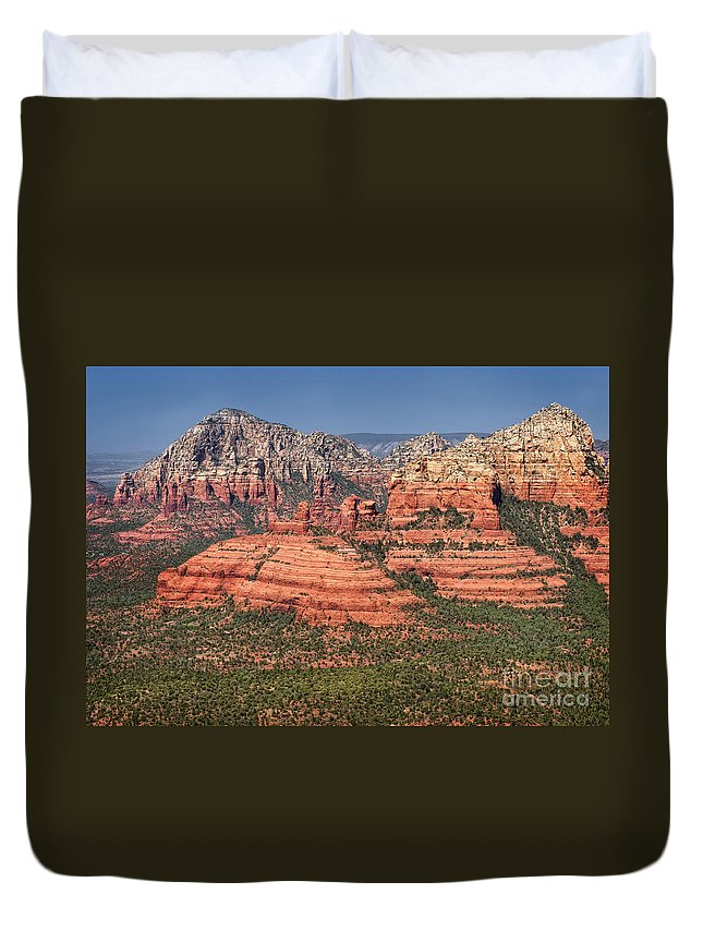 Sedona Duvet Cover featuring the photograph Sedona by Claudia Kuhn