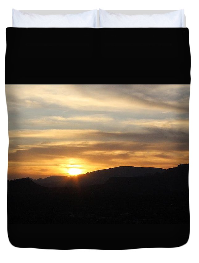 Mingus Duvet Cover featuring the photograph Sedona Sunset May 27 2013 B by Edward Dobosh