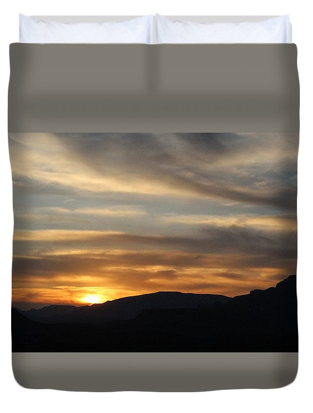 Mingus Duvet Cover featuring the photograph Sedona Sunset May 27 2013 G by Edward Dobosh