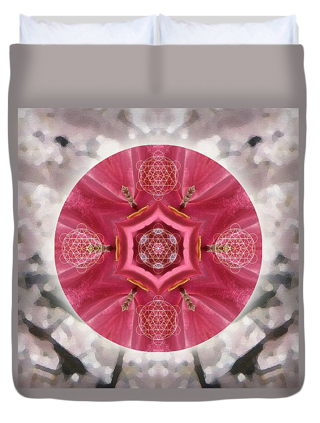 Mandala Duvet Cover featuring the mixed media Seeds Of Transformation by Alicia Kent