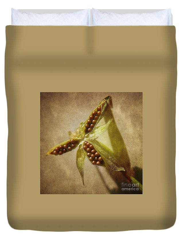 Seed Pod Duvet Cover featuring the photograph Seeds by Peggy Hughes