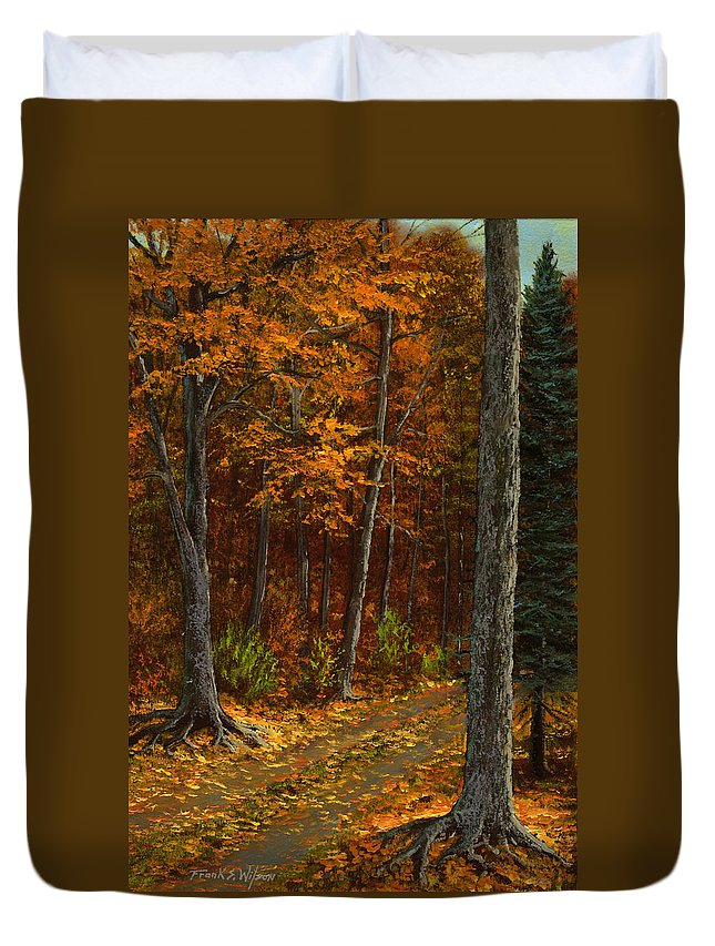 Landscape Duvet Cover featuring the painting Seldom Used by Frank Wilson