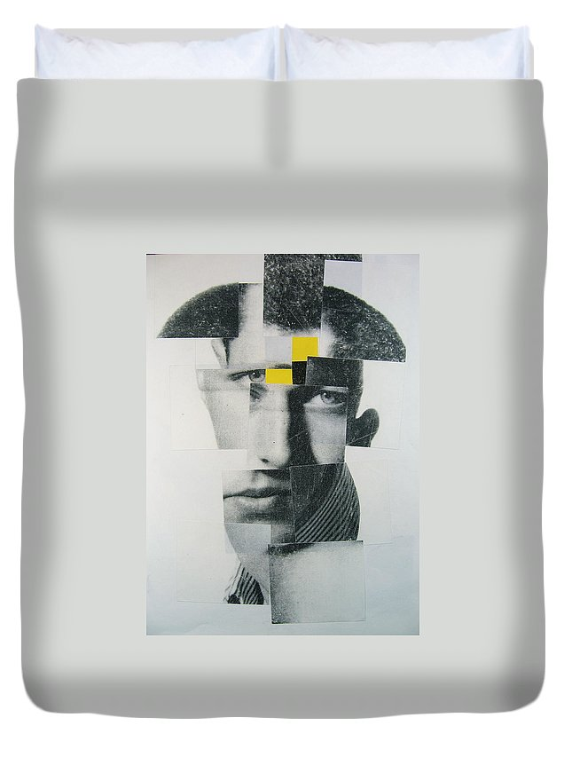 Abstract Portrait Duvet Cover featuring the painting When I Was Young I Was So Much Older Then - Im Younger Then That Now by Cliff Spohn