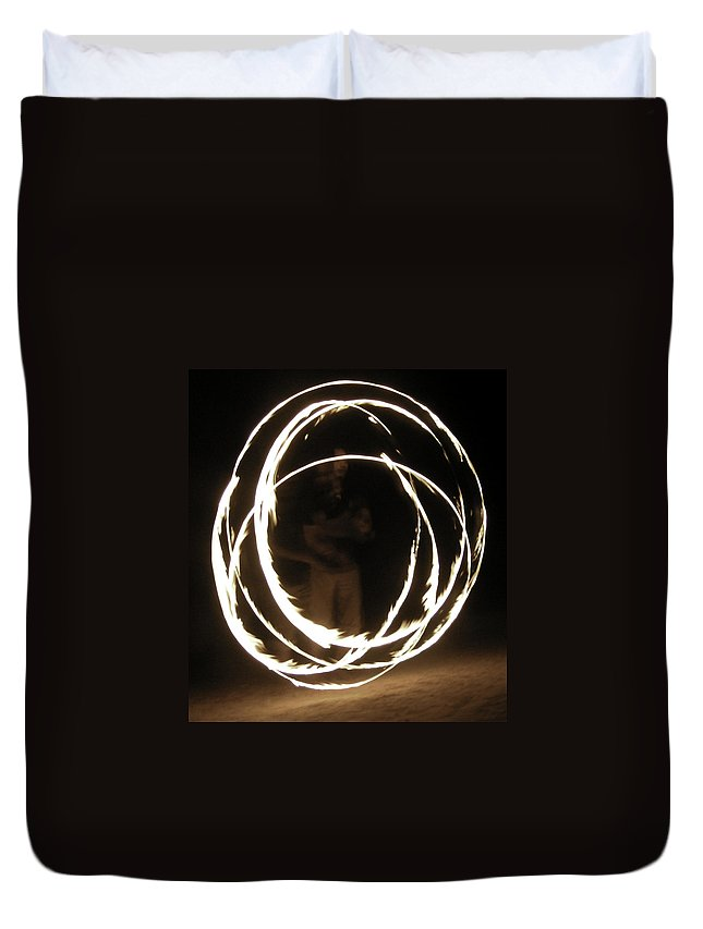 Fire Duvet Cover featuring the mixed media Self Reflection by Lovejoy Creations
