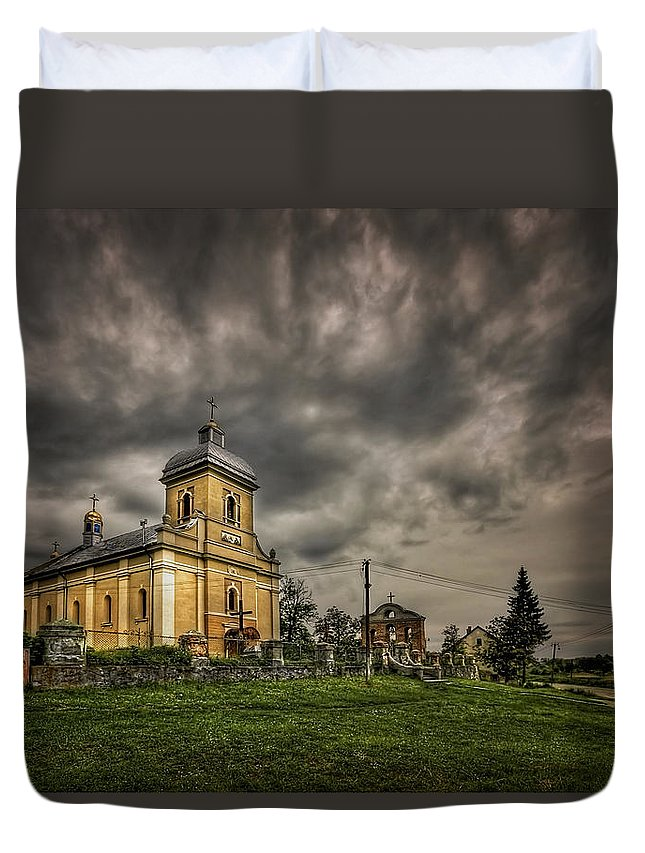 Church Duvet Cover featuring the photograph Send Me An Angel by Evelina Kremsdorf