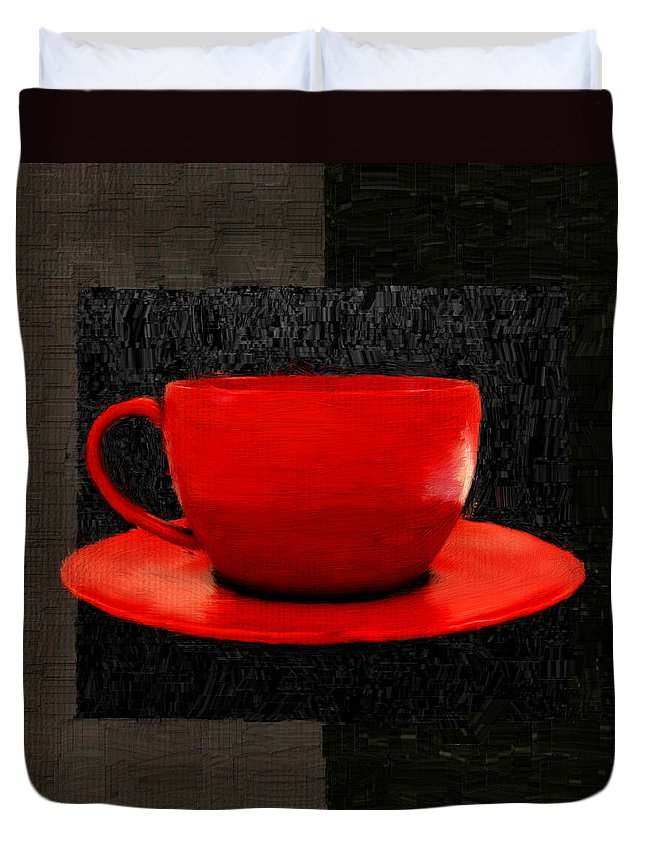 Coffee Duvet Cover featuring the digital art Sensuality by Lourry Legarde
