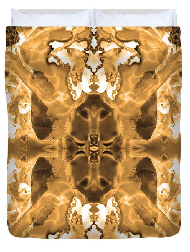 Sepia Tones Duvet Cover featuring the photograph Sepia Bag Fairies 1 by Deprise Brescia