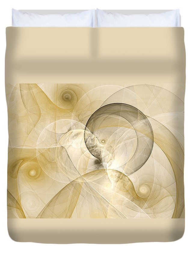 Abstract Duvet Cover featuring the digital art Series Abstract Art In Earth Tones 3 by Gabiw Art