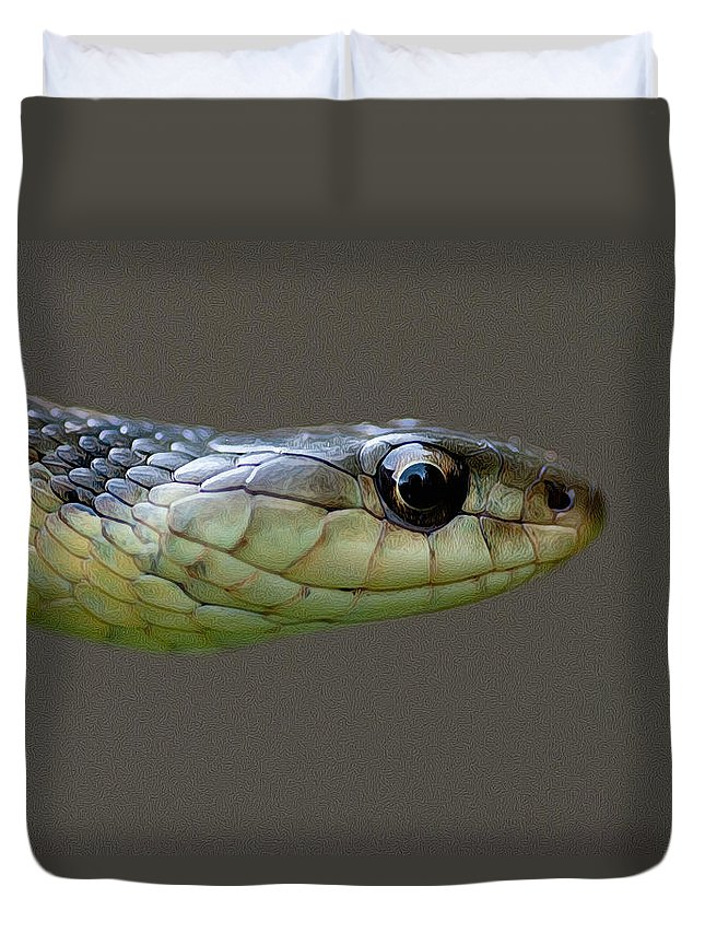 Duvet Cover featuring the photograph Serpent Profile by WB Johnston