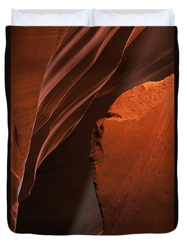 Sunbeam Duvet Cover featuring the photograph Shaft Of Light by Mike Dawson