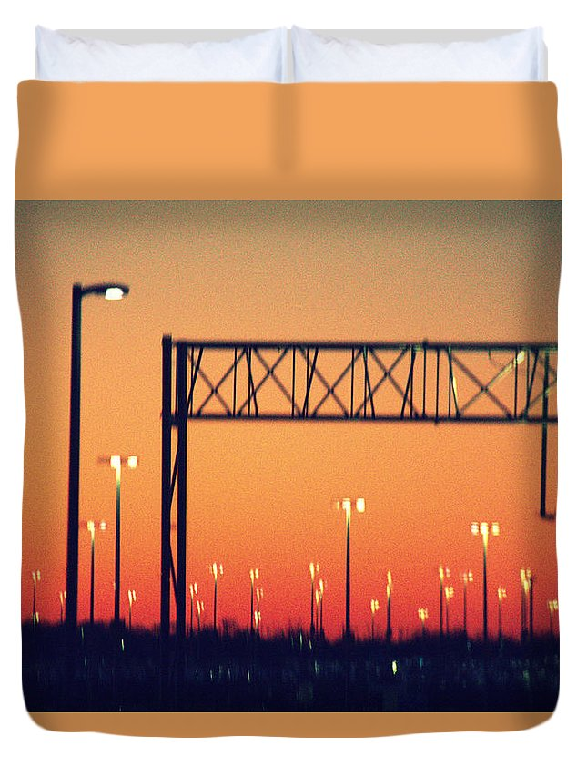 Shake Down Duvet Cover featuring the photograph Shake Down by Ed Smith