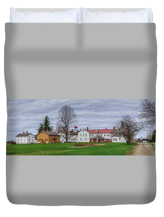 Duvet Cover featuring the photograph Shaker Village by Scott Thorp