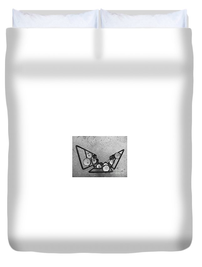 Black And White Photography Duvet Cover featuring the photograph Shaped Openness 1 by Fei A