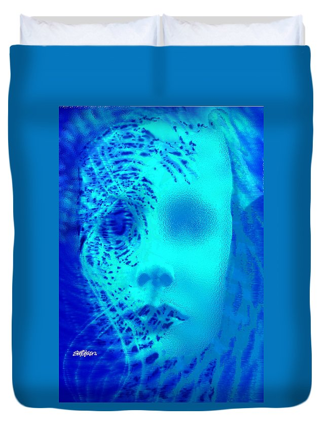 Shattered Doll Duvet Cover featuring the digital art Shattered Doll by Seth Weaver