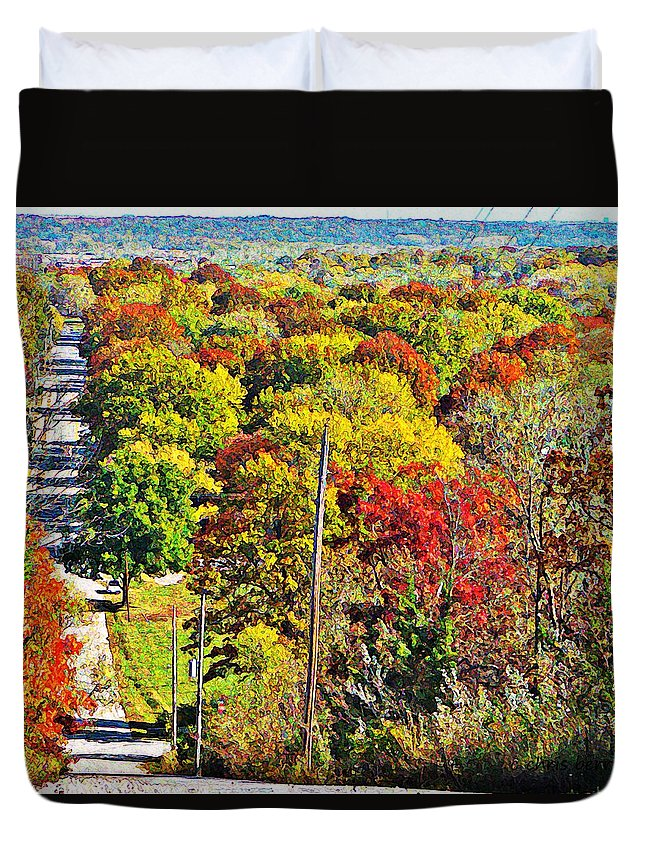 Landscape Duvet Cover featuring the photograph Shawnee Hill by Chris Berry