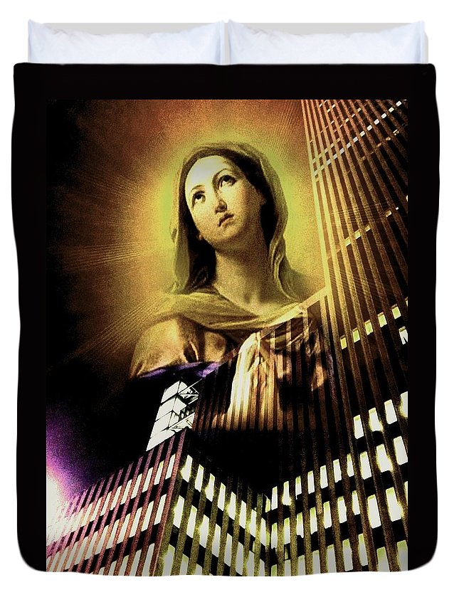 Spiritual Photography Duvet Cover featuring the photograph In Yellows She Glows by Tina Mancusi