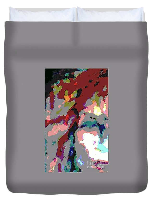 Enlightened Duvet Cover featuring the mixed media She Has Found Her Way by Jacqueline McReynolds