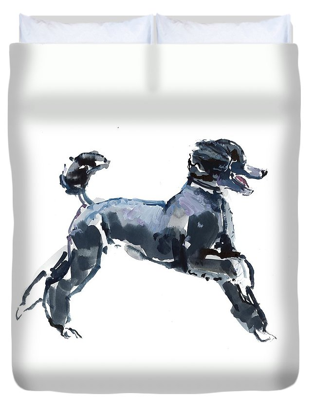 Dog Duvet Cover featuring the painting Sheer Class by Mark Adlington