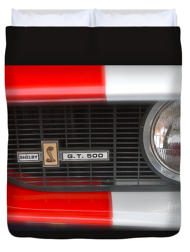 Shelby Duvet Cover featuring the photograph Shelby Gt 500 by Pamela Walrath