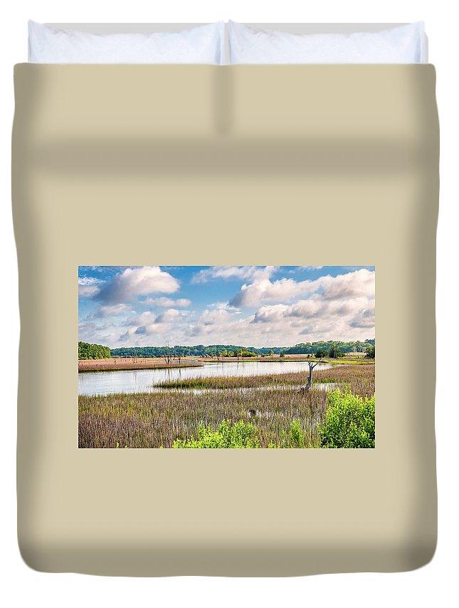 River Duvet Cover featuring the photograph Sheldon Creek Bend by Scott Hansen