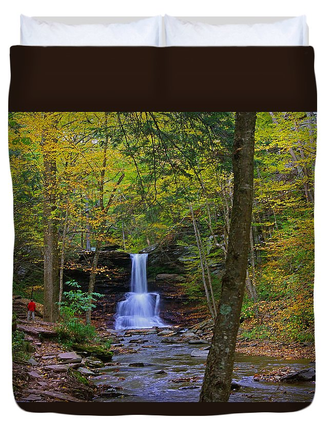 Pa Duvet Cover featuring the photograph Sheldon Reynolds Falls And Kitchen Creek by Rich Walter