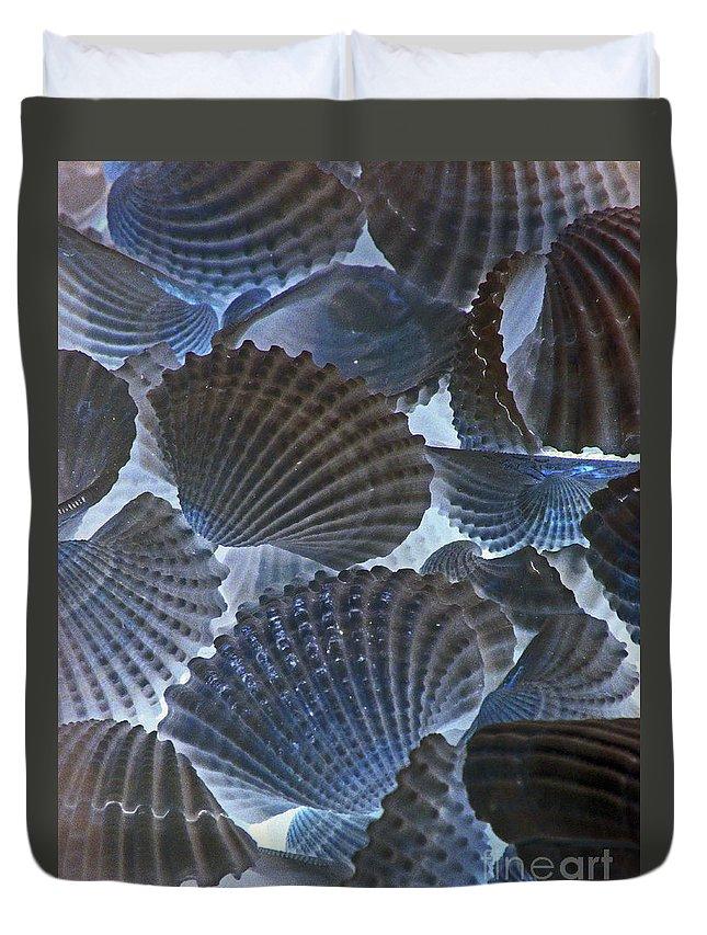Sea Shells Duvet Cover featuring the photograph Shell Ballet by Joe Jake Pratt
