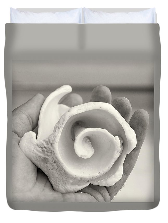 Shells Duvet Cover featuring the photograph Shell On Cozumel by For Ninety One Days