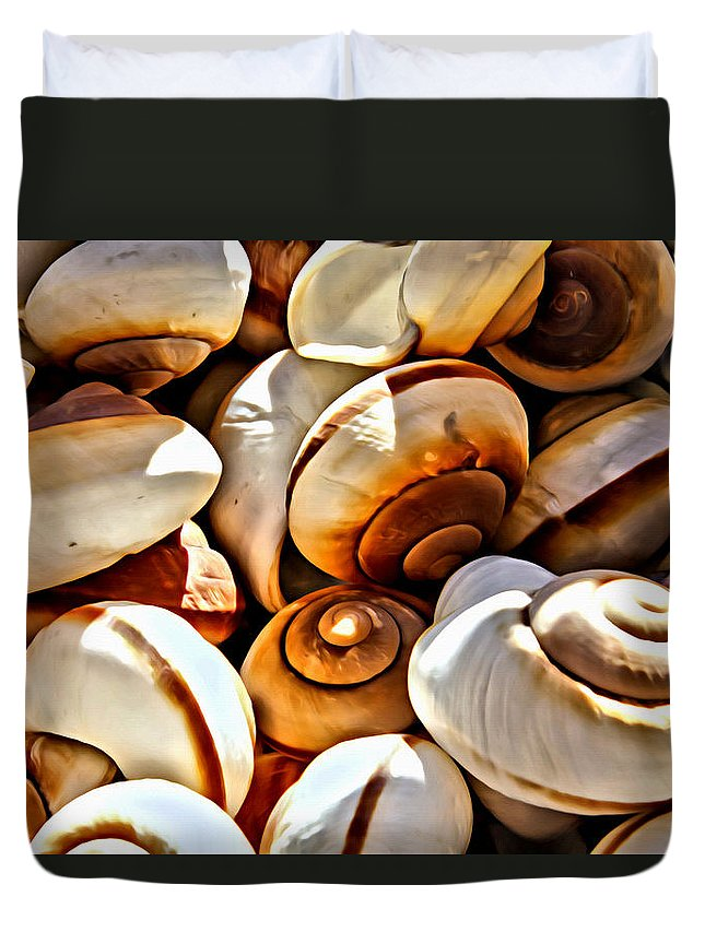 Shells Duvet Cover featuring the photograph Shells Galore by Alice Gipson
