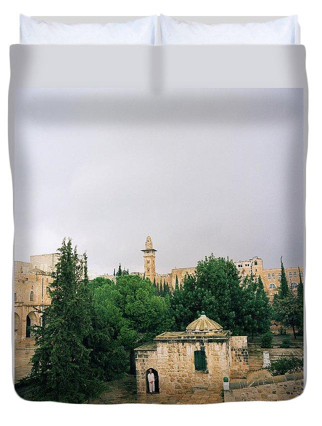 Jerusalem Duvet Cover featuring the photograph Historic Jerusalem by Shaun Higson