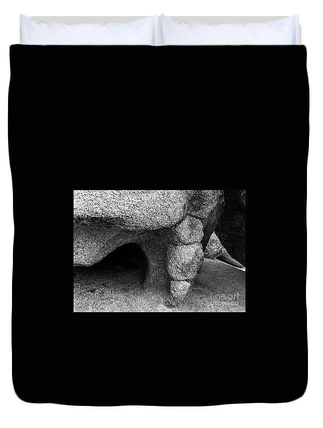 Lovejoy Duvet Cover featuring the photograph Shelter by Lovejoy Creations