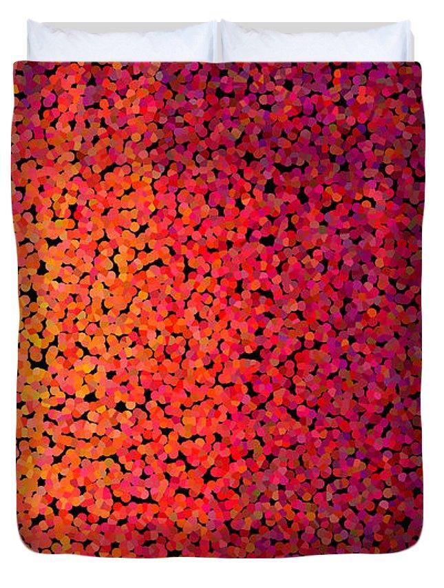 Abstract Duvet Cover featuring the digital art Sherbet Pixels by James Kramer