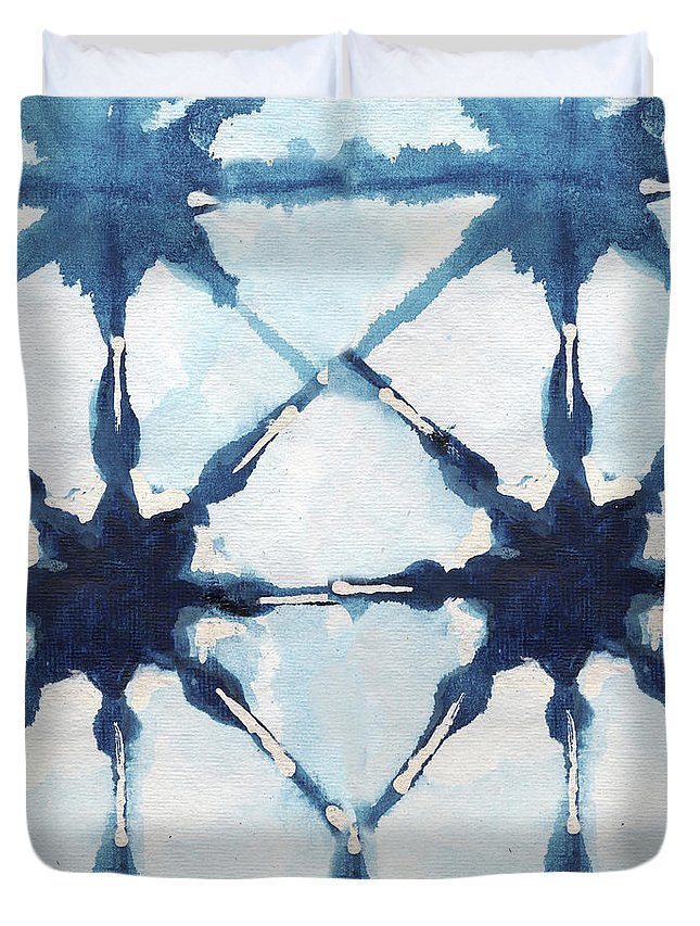 Shibori Duvet Cover featuring the digital art Shibori II by Elizabeth Medley
