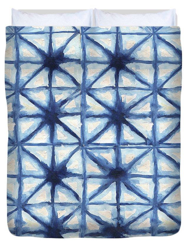 Shibori Duvet Cover featuring the digital art Shibori Iv by Elizabeth Medley