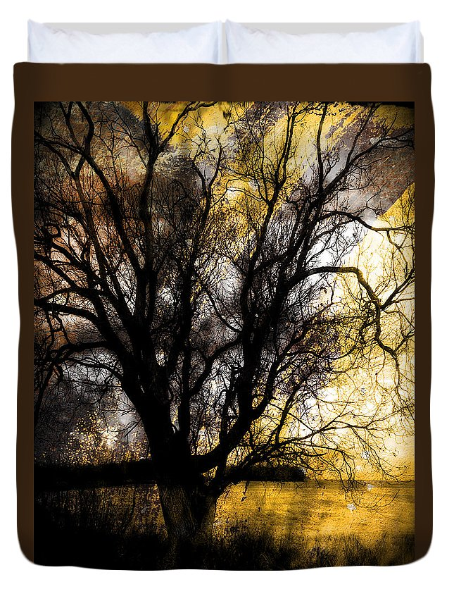 Trees Duvet Cover featuring the photograph Shine In Twine by The Artist Project