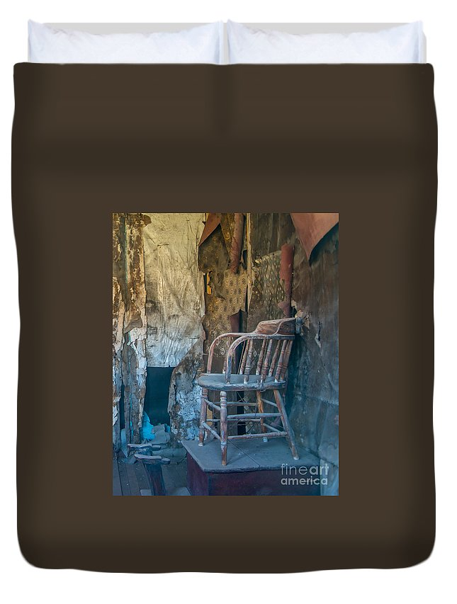 Shoeshine Duvet Cover featuring the photograph Shoe Shine by Stephen Whalen
